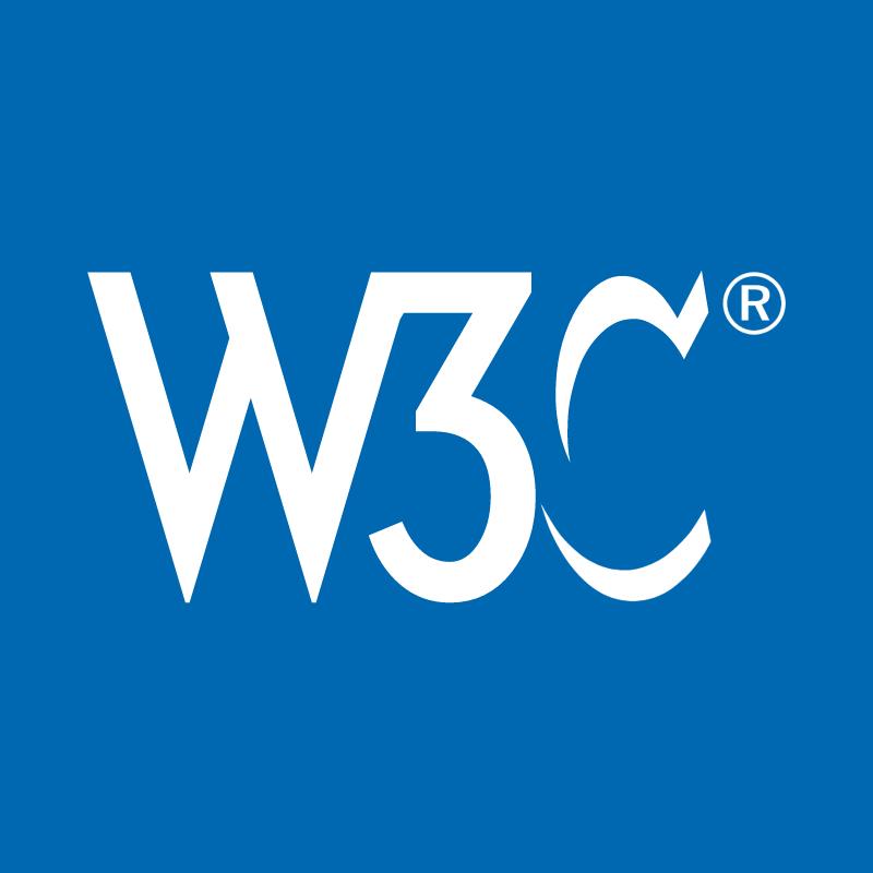 W3C blue vector