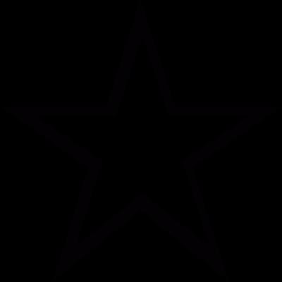 Star empty vector logo