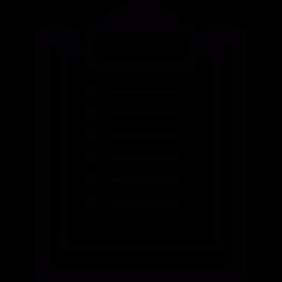 List on clipboard vector logo