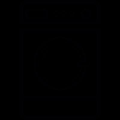 Washer machine vector logo