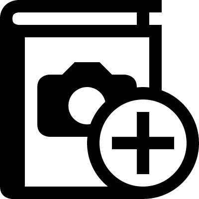 Add photo album vector logo