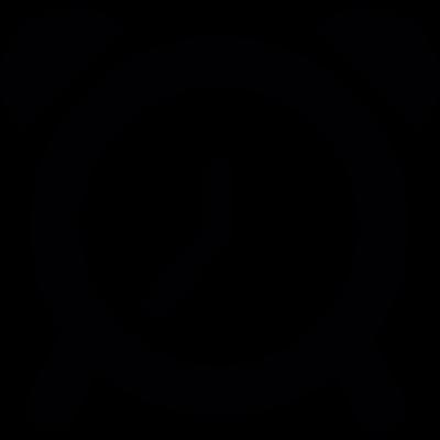 Desk alarm clock vector logo