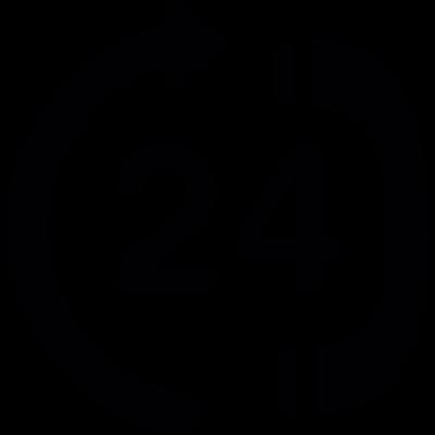 24 hour calling service center vector logo