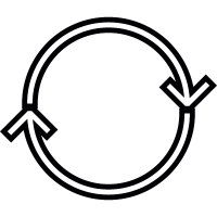 Double Circular Arrows vector
