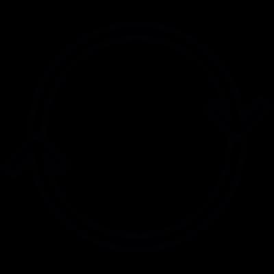 Double Circular Arrows vector logo