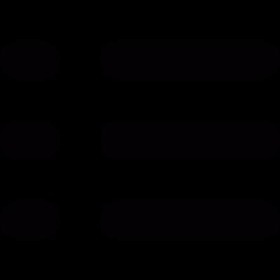 Bulleted list vector logo
