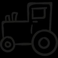 Gardening Tractor vector