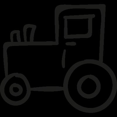 Gardening Tractor vector logo