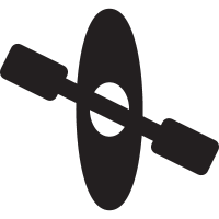 Canoe with Rowing vector