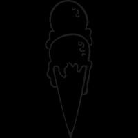 Two Balls Ice cream Cone vector