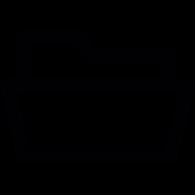 Open folder Icon vector logo