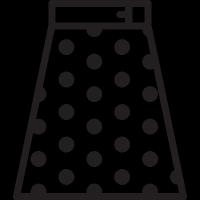 Polka Dot Skirt vector