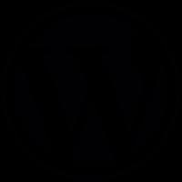 WordPress Logo Button vector