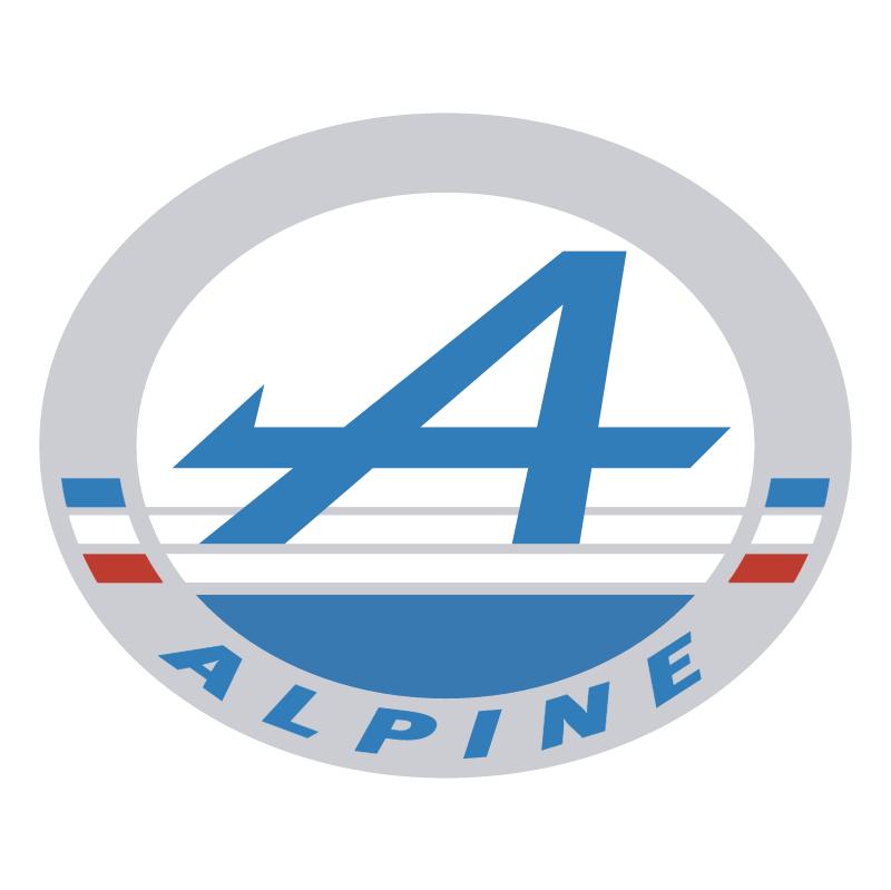 Alpine Automobile vector logo