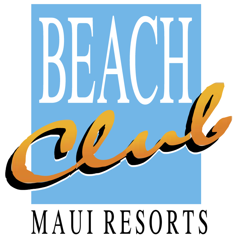 Beach Club Maui Resorts vector