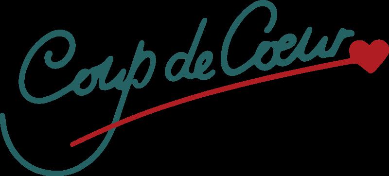 Coup de coeur logo vector