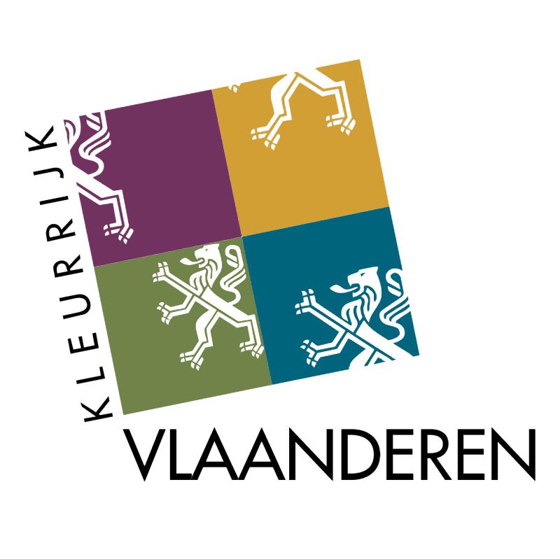 Kleurrijk Vlaanderen vector