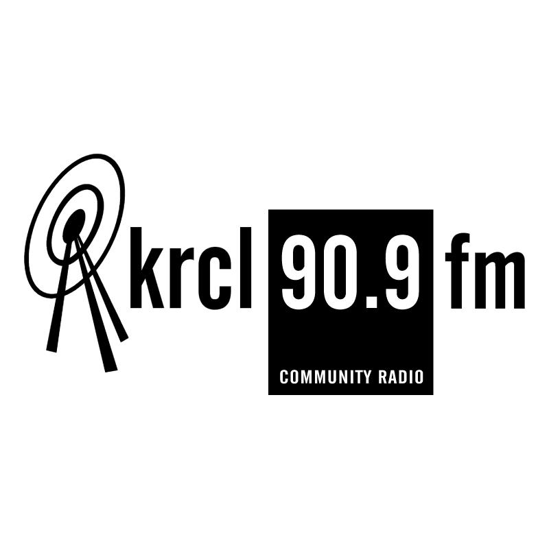 KRCL Radio vector
