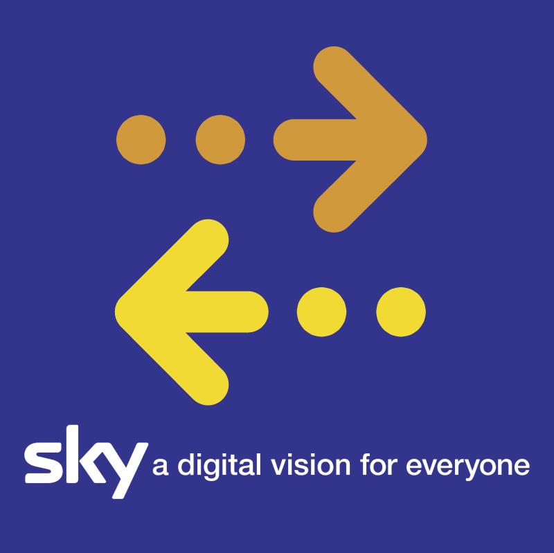 Sky TV vector