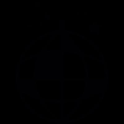 Disco ball vector logo