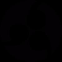 Japanese symbol family crest Kamon vector
