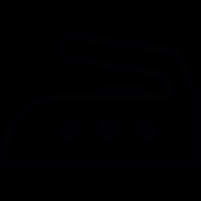 Hot ironer vector logo