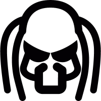 Predator head vector