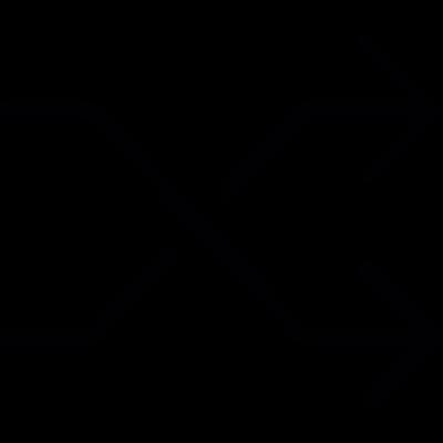 Shuffle arrows vector logo
