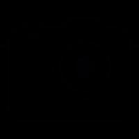 Photo camera, IOS 7 interface symbol vector
