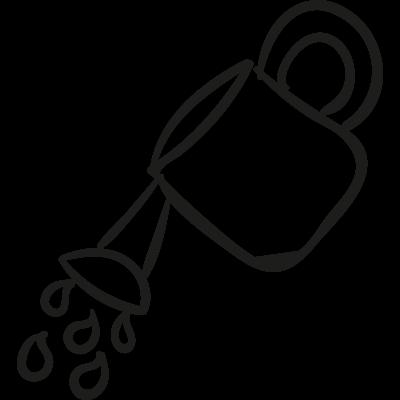 Gardening Watering Can vector logo