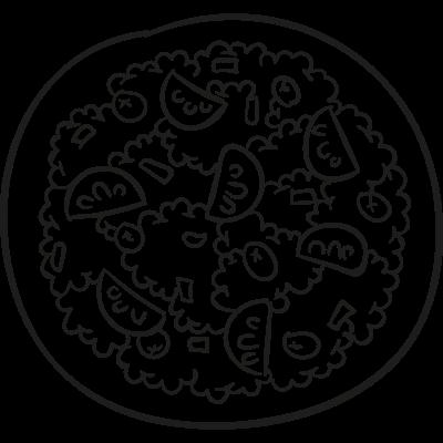 Nachos Plate vector logo
