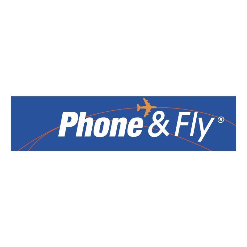 Phone & Fly vector logo