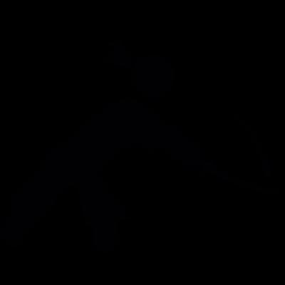 Oriental man with a sword vector logo