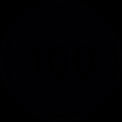 Speed limit 100 vector logo