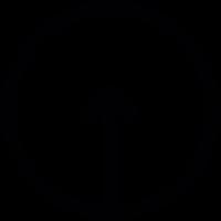 Up Arrow inside a circle vector