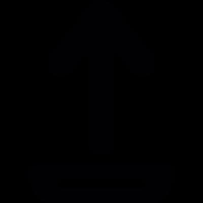 Uploading from drive vector logo