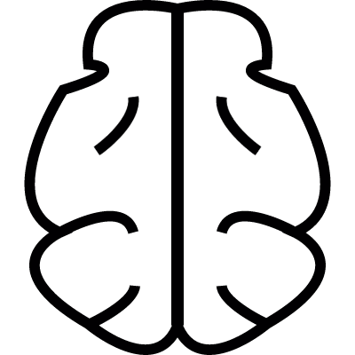 Brain shape, IOS 7 symbol vector logo