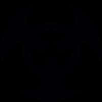 Biological hazard symbol vector