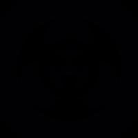 Biohazard symbol on square background vector