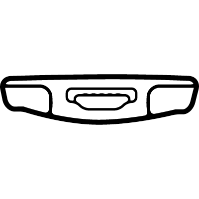 Phone view from bottom vector logo