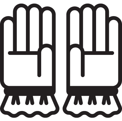 Two Gloves vector logo