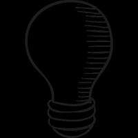 Drawed Light Bulb vector