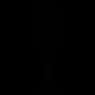Flute Glass vector logo