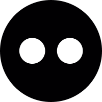 Flickr circle Logo vector