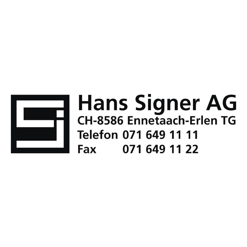 Hans Singer vector logo