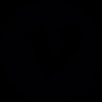 Social vimeo in a circle Logo vector