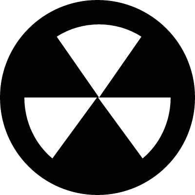 Biological radioactive vector logo