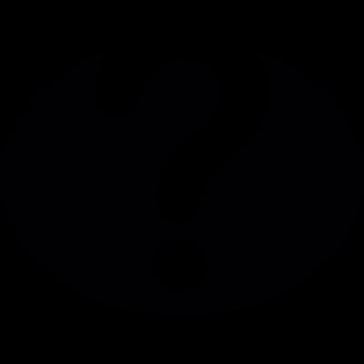 Question mark inside a black oval vector logo