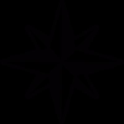 Wind rose vector logo