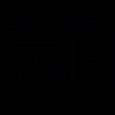 Digital camera, IOS 7 interface symbol vector logo